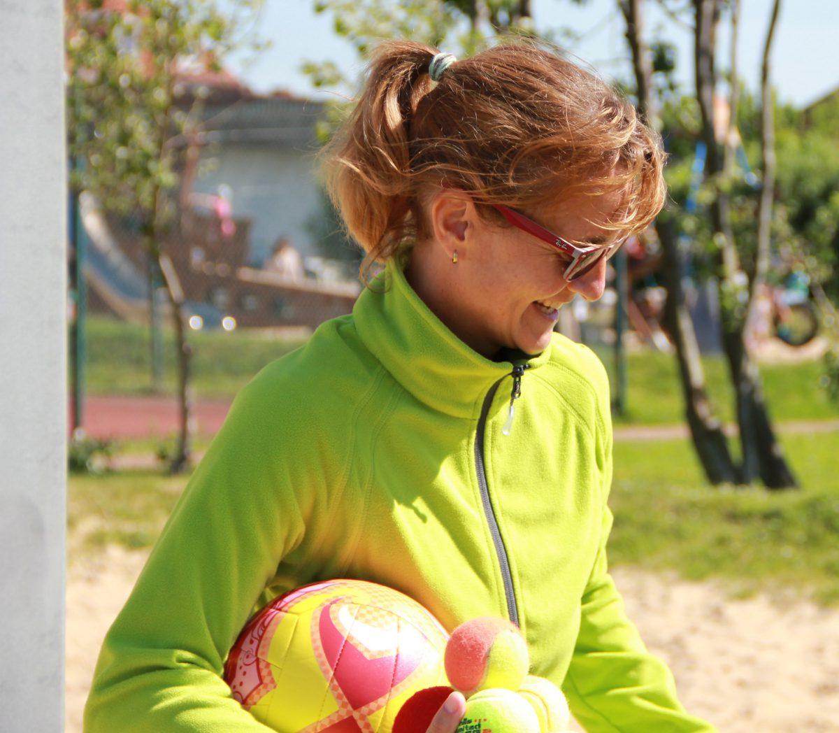 Tanja Lang Johnson Beach Tennis an der Nordsee