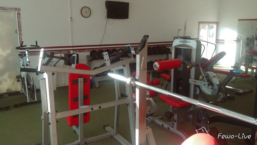 go tennis Spain Fitness room